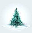 christmas tree xmas new year design vector image
