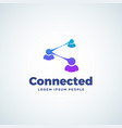 connected modern technology sign vector image