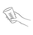 Cooking hand icon vector image