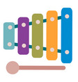 cute xylophone toy for children isolated object vector image vector image