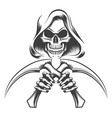 death with scythe knives vector image vector image