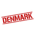 denmark red square stamp vector image vector image