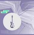 electric guitar icon on purple abstract modern vector image