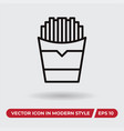 fries icon in modern style for web site and vector image vector image