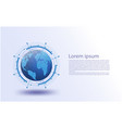 global network futuristicinternet of things vector image vector image
