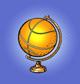 globe international basketball ball sports vector image vector image