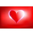 glowing heart vector image vector image