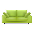green sofa and pillows isolated white background vector image vector image