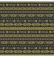 Hand drawn gold geometric ethnic seamless pattern vector image