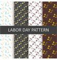 happy labor day pattern background set vector image vector image