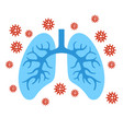human lungs infection coronavirus on white vector image