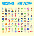 icon pack for designers and developers icons for vector image vector image