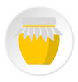 jar of fresh honey icon circle vector image vector image