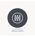 Manual gearbox icon Car transmission sign vector image vector image