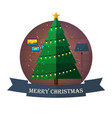 merry christmas and happy new year christmas vector image vector image