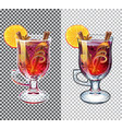 mulled wine transparent autumn drink vector image