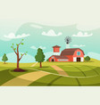 old farm flat vector image