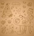pattern for design menu vector image