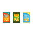 potato chips packaging stock vector image
