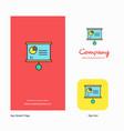 presentation chart company logo app icon and vector image vector image