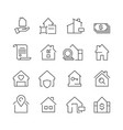 real estate icons business marketing sale houses vector image