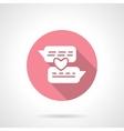 Romantic conversation round pink icon vector image