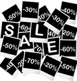 Sale concept with photo frames vector image vector image