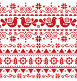 scandinavian christmas seamless pattern vector image vector image