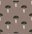 seamless pattern with fly agaric mushrooms vector image