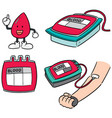 set blood donation vector image vector image