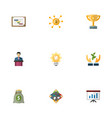 set of idea icons flat style symbols with planning vector image