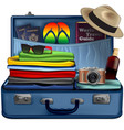 set of necessary things for a vacation trip vector image