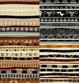 Set of tribal primitive african pattern vector image vector image