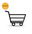 shopping cart icon isolated flat style vector image vector image