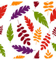 simple leaves pattern vector image