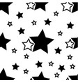 simple pattern wth black stars on white background vector image