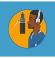 Singer recording song vector image