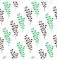 spring floral seamless pattern vector image vector image