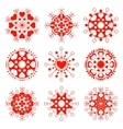 Ssnowflake heart view icon set Christmas vector image vector image