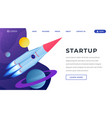 startup ideas isometric landing page template 3d vector image vector image