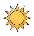 sun in a space cosmic astronomy science vector image