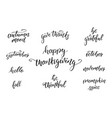 thanksgiving day calligraphy quotes for vector image
