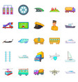 traction icons set cartoon style vector image vector image