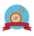 travel compass icon vector image