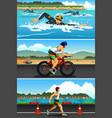 triathlon sport vector image vector image