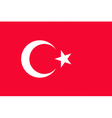 turkish flag vector image vector image