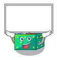 up board character wooden box of kids toys vector image vector image