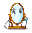 waiting big dressing mirror isolated on mascot vector image