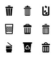 waste icons vector image vector image