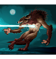 Werewolf is fighting with a lighting vector image vector image